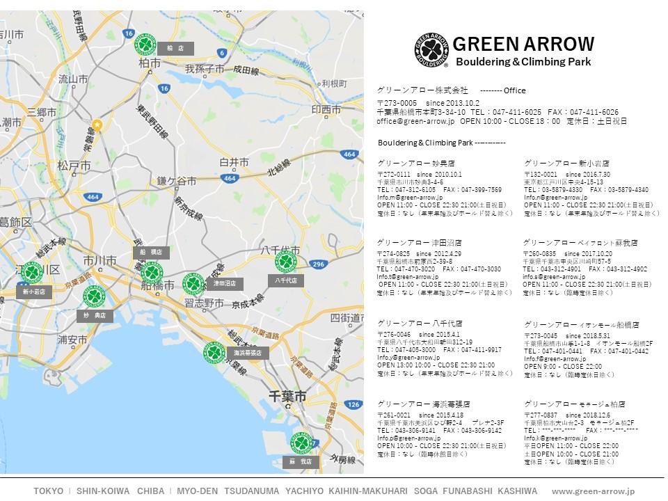 店舗紹介 グリーンアロー ボルダリング クライミングパーク 市川妙典